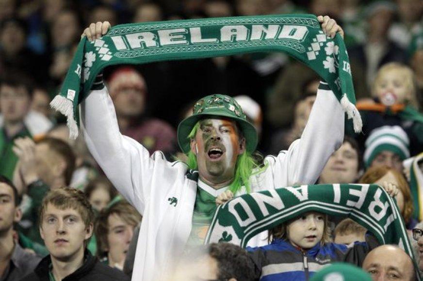 Airijos sirgaliai džiaugėsi savo ekipos pergale