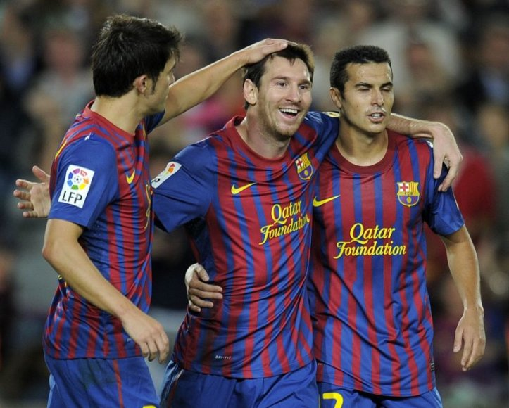 Davidas Villa, Leonelis Messi ir Pedro