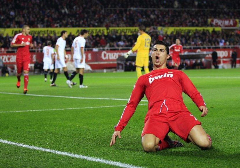 Cristiano Ronaldo pelnė tris įvarčius