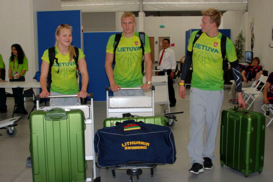 Lietuvos plaukikai atvyksta į olimpinį kaimelį