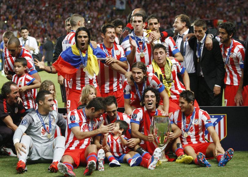 "Madrido ""Atletico"" futbolininkai iškovojo UEFA Supertaurę"