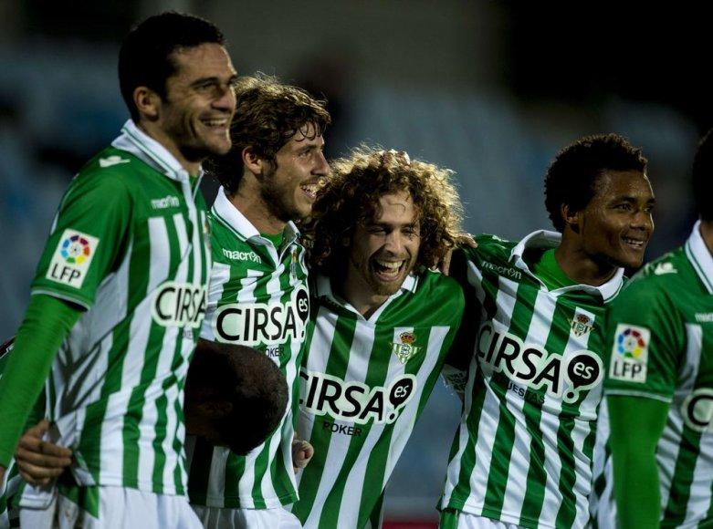 """Po pergalės """"Real Betis"""" klubas pakilo į ketvirtą vietą Ispanijos čempionate"""