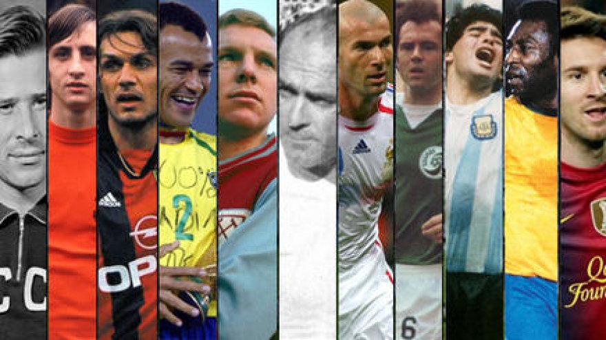 """""""World Soccer"""" pristatė geriausių visų laikų futbolininkų rinktinę"""
