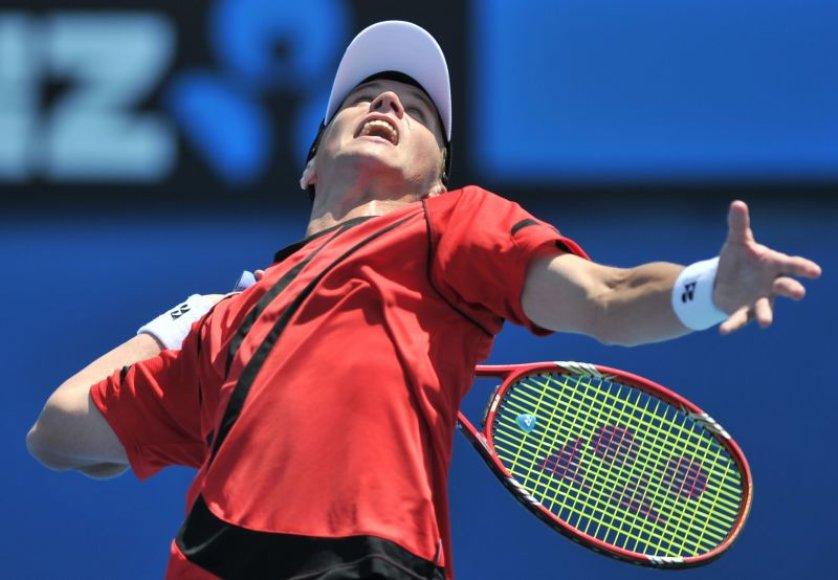 "Lietuviška teniso pasaka ""Australian Open"" baigėsi: Ričardas Berankis nepasipriešino Davidui Ferrerui"