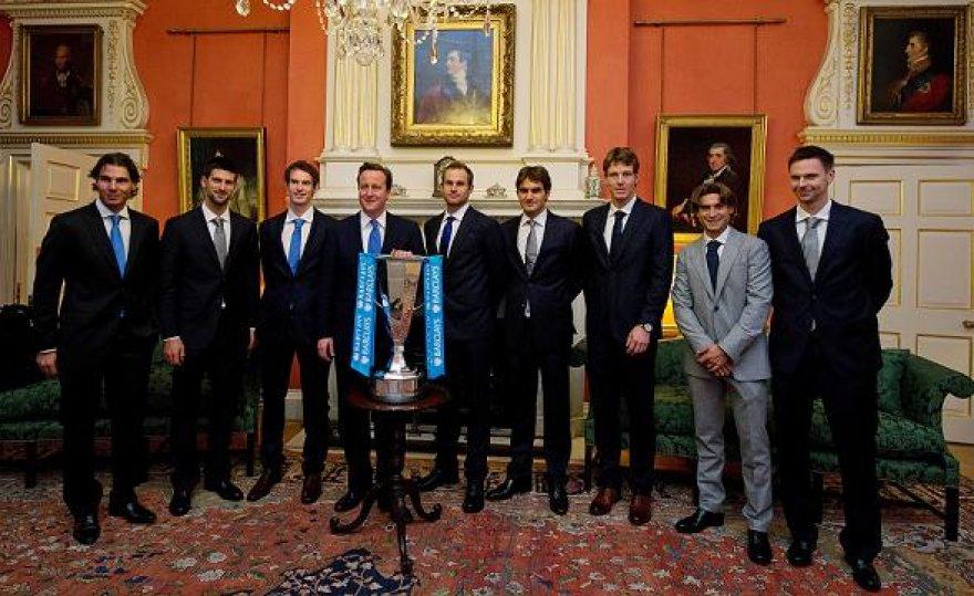 Baigiamojo ATP turnyro dalyvius prėmė britų premjeras