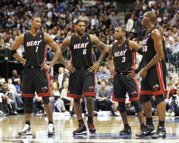 """Majamio """"Heat"""" superžvaigždės nepatenkintos ekipos treneriu."""
