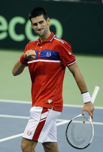 Serbas Novakas Djokovičius išlygino Daviso taurės finalo rezultatą.
