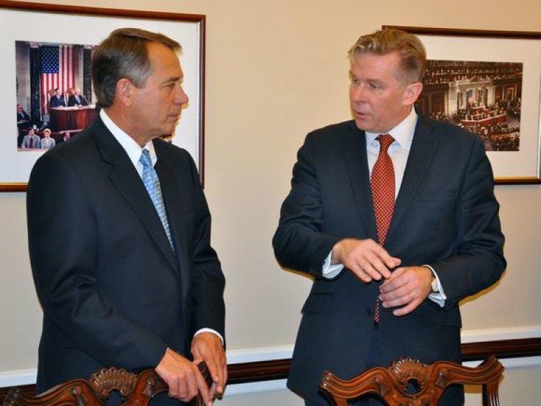 Audronius Ažubalis ir JAV Atstovų Rūmų Pirmininkas Johnas Boehneris