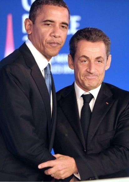 Barackas Obama ir Nicolas Sarkozy