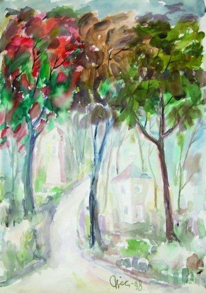 """""""Paminklai po medžiais"""" (1998 m.)"""