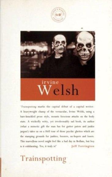 """Wikipedia nuotr./1996 metų romano """"Trainspotting"""" viršelis"""