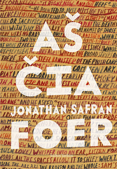 "Knygos viršelis/Jonathan Safran Foer ""Aš čia"""