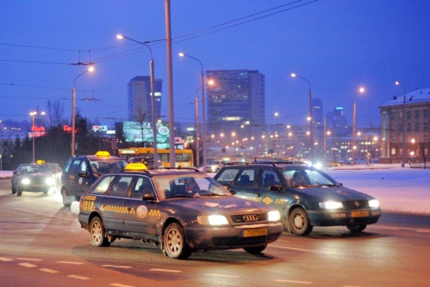 Taksistai streikavo