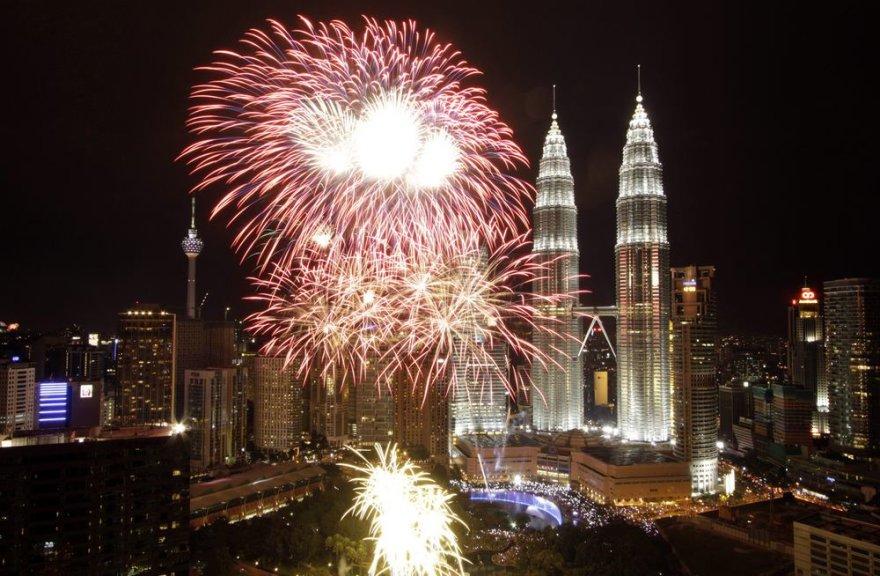Fejerverkai Malaizijoje