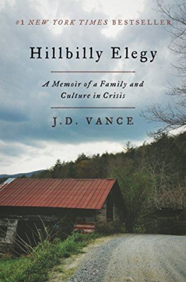 "Knygos viršelis/Knyga ""Hillbilly Elegy A Memoir of a Family and Culture in Crisis"""