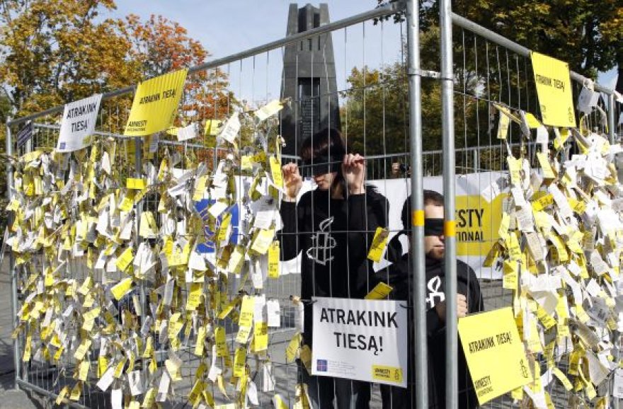 """Amnesty International"" akcija Vilniuje"