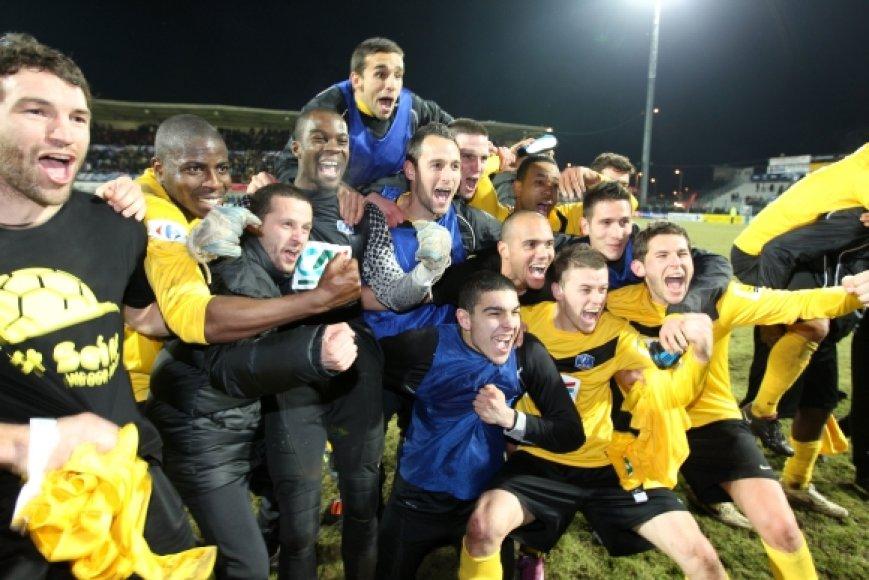 """""""Quevilly"""" futbolininkų džiaugsmas"""