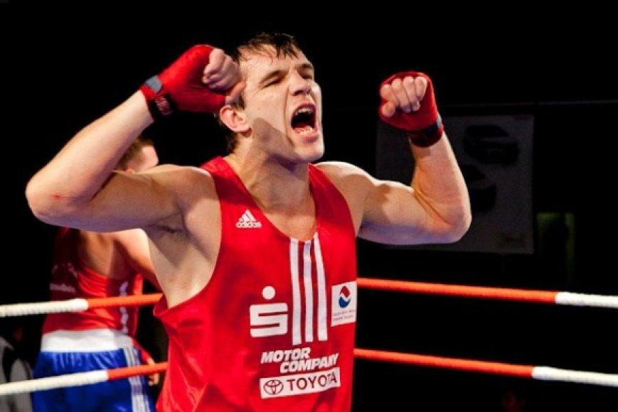 33 metų Vitalijus Subačius – vyriausias Lietuvos boksininkas, dalyvausiantis atrankiniame turnyre Trobzone
