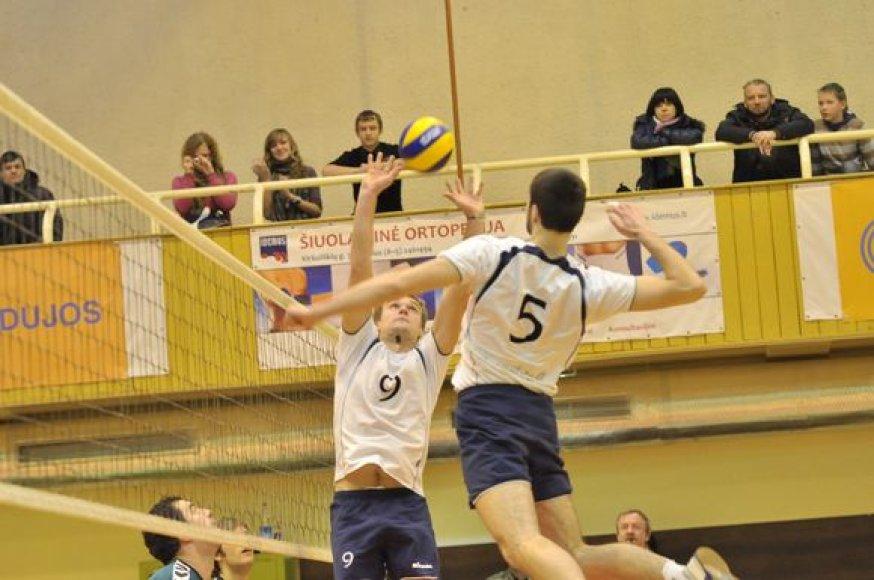 """""""Flamingo Volley/SM Tauras"""" ir """"Ąžuolas"""" rungtynių akimirka"""
