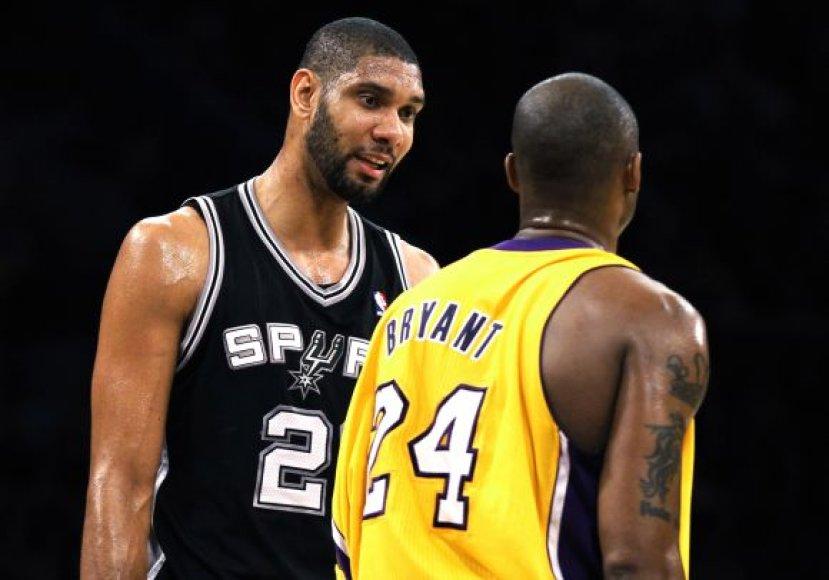 Timas Duncanas ir Kobe Bryantas