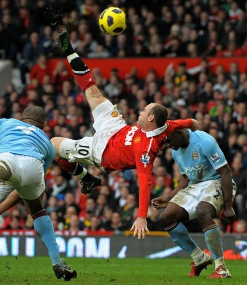 Įspūdingas W.Rooney smūgis per save