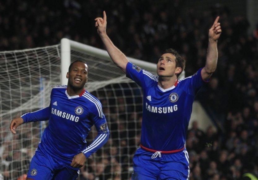 Didier Drogba ir Frankas Lampardas