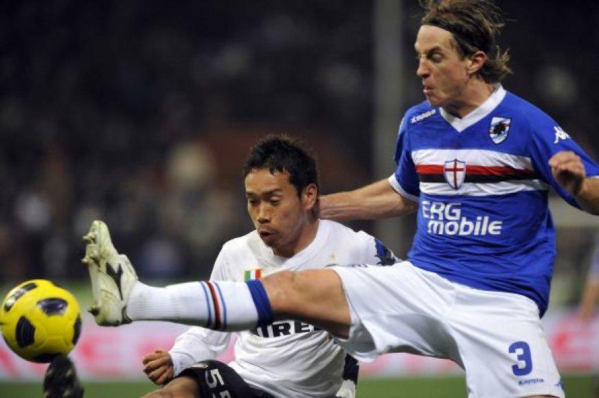 """""""Inter"""" – """"Sampdoria"""" rungtynių akimirka"""