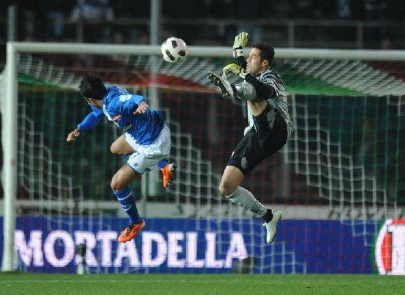 """Brescia"" – ""Inter"" rungtynių akimirka"