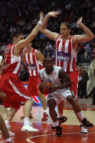 """Olympiacos"" – ""Montepaschi"" rungtynių akimirka"