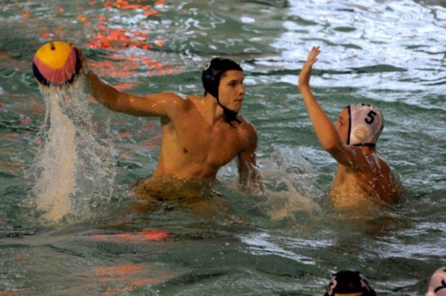 Vandensvydžio rungtynių akimirka