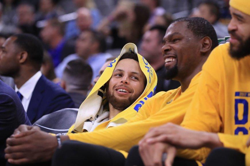 """""""Scanpix"""" nuotr./Stephenas Curry ir Kevinas Durantas"""