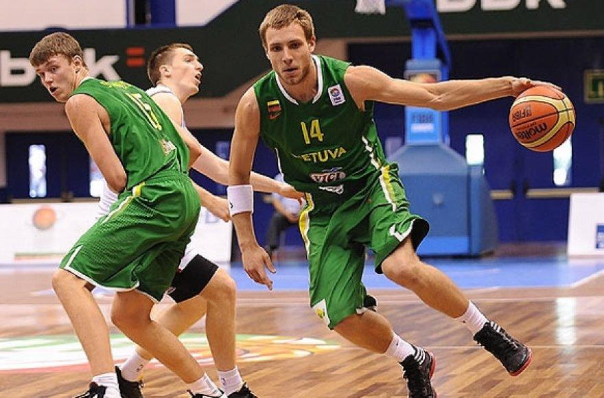 Lietuvos U-20 rinktinė kovoja dėl išlikimo aukščiausiame divizione