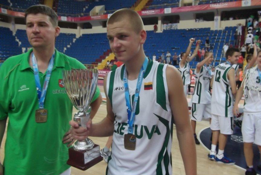 Rezultatyviausias finalo rungtynių žaidėjas Tautvydas Paliukėnas