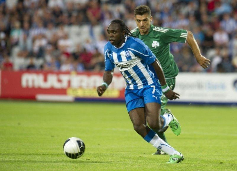 """""""OB Odense"""" – """"Panathinaikos"""" rungtynių akimirka"""