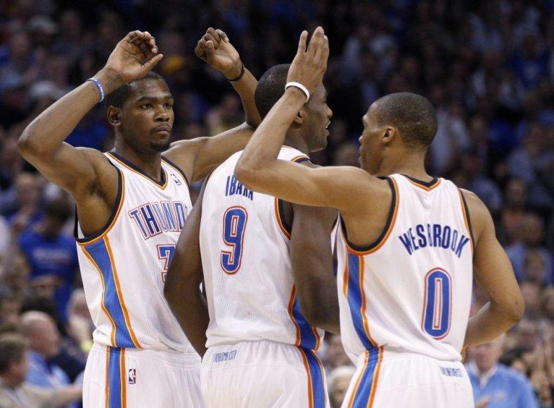 Kevinas Durantas (kairėje)
