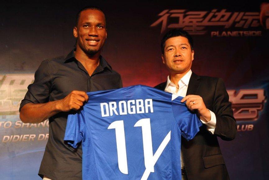 Didier Drogba atvyko į Kinija