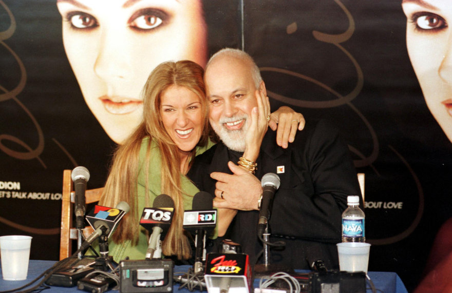 Vida Press nuotr./Celine Dion ir Rene Angelilis (1999 m.)