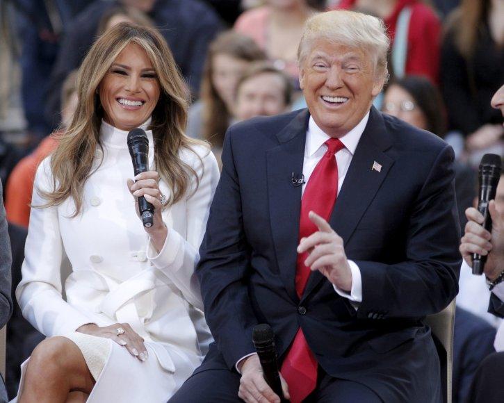 """""""Reuters""""/""""Scanpix"""" nuotr./Donaldas Trumpas ir Melania Trump (2016 m.)"""