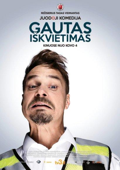 """Filmo """"Gautas iškvietimas"""" plakatas/Leonardas Pobedonoscevas"""
