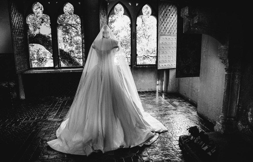 Asmeninio albumo nuotr./Karolinos Taraškevič vestuvinė suknelė