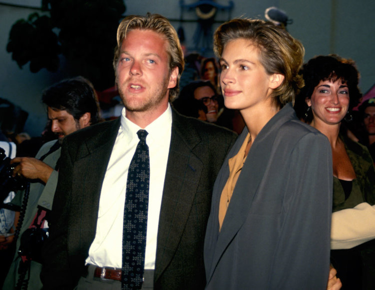 Vida Press nuotr./Kieferis Sutherlandas ir Julia Roberts (1991 m.)