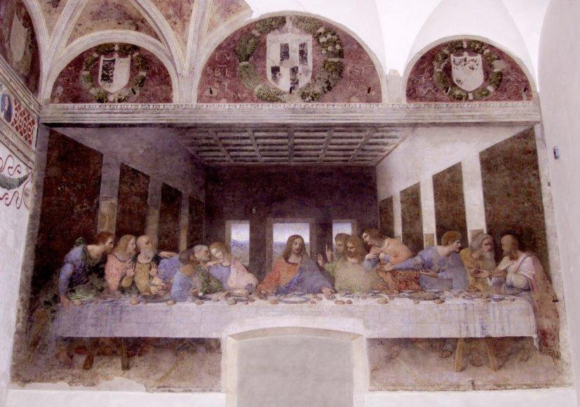 """Vida Press nuotr./Leonardo da Vinci freska """"Paskutinė vakarienė"""""""