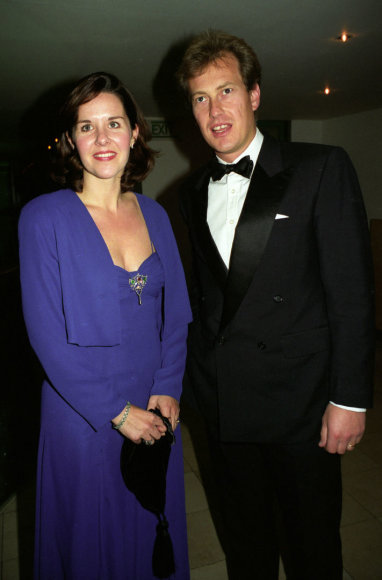 Vida Press nuotr./Lordas Ivaras Mountbattenas su buvusia žmona Penelope Thompson (1996 m.)