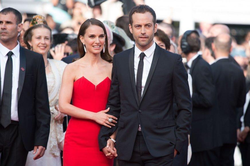 """""""Scanpix""""/""""SIPA"""" nuotr./Natalie Portman ir Benjaminas Millepiedas"""