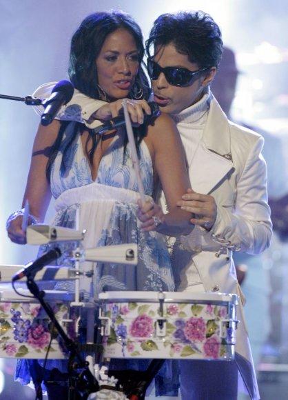 """""""Scanpix""""/AP nuotr./Prince'as ir Sheila E. (2007 m.)"""