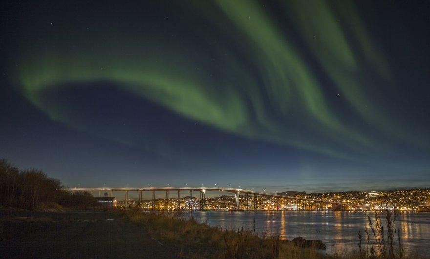 """""""Scanpix""""/AP nuotr./Šiaurės pašvaistė Trumsėje, Norvegijoje"""