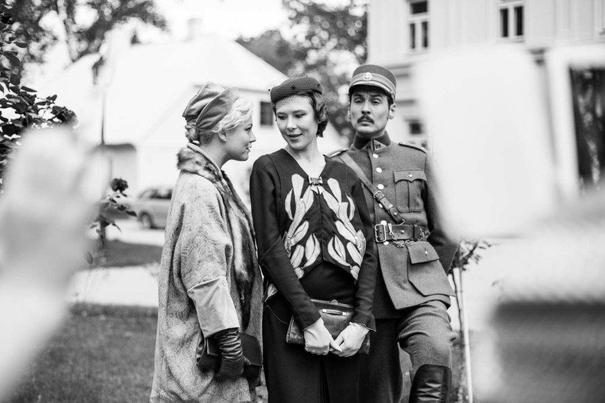 """""""Fotogenijų"""" nuotr./Toma Vaškevičiūtė, Eglė Špokaitė ir Mykolas Vildžiūnas"""