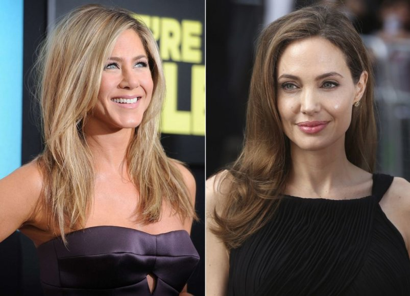 Jennifer Aniston ir Angelina Jolie