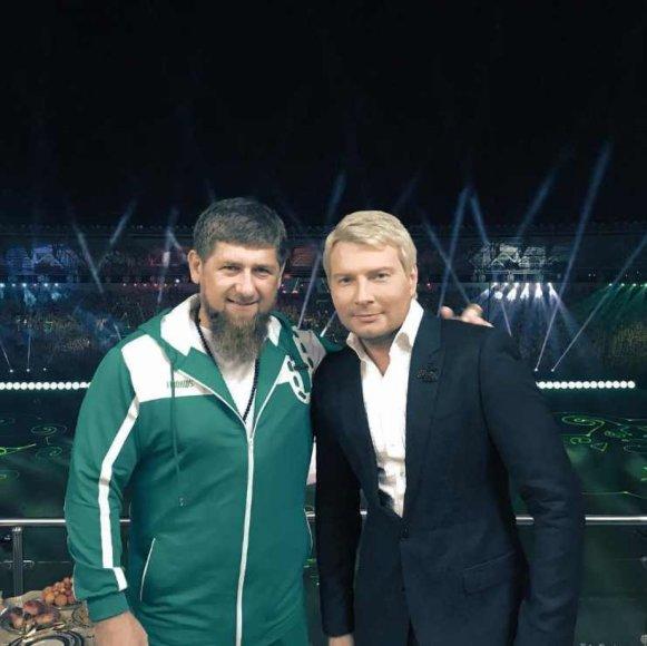 """""""Instagram"""" nuotr./Ramzanas Kadyrovas ir Nikolajus Baskovas"""