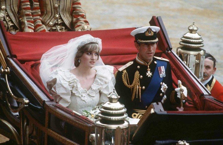 """""""Scanpix""""/""""SIPA"""" nuotr./Princesė Diana ir princas Charlesas (1981 m.)"""